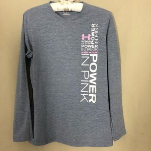 Under Armour Power in Pink Long Sleeve Tee S